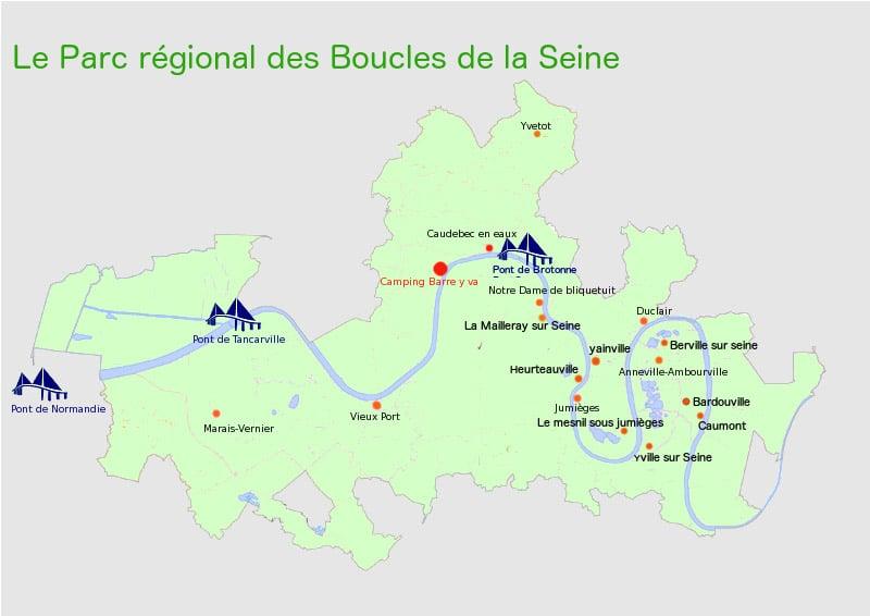 carte parc regional boucles de seine