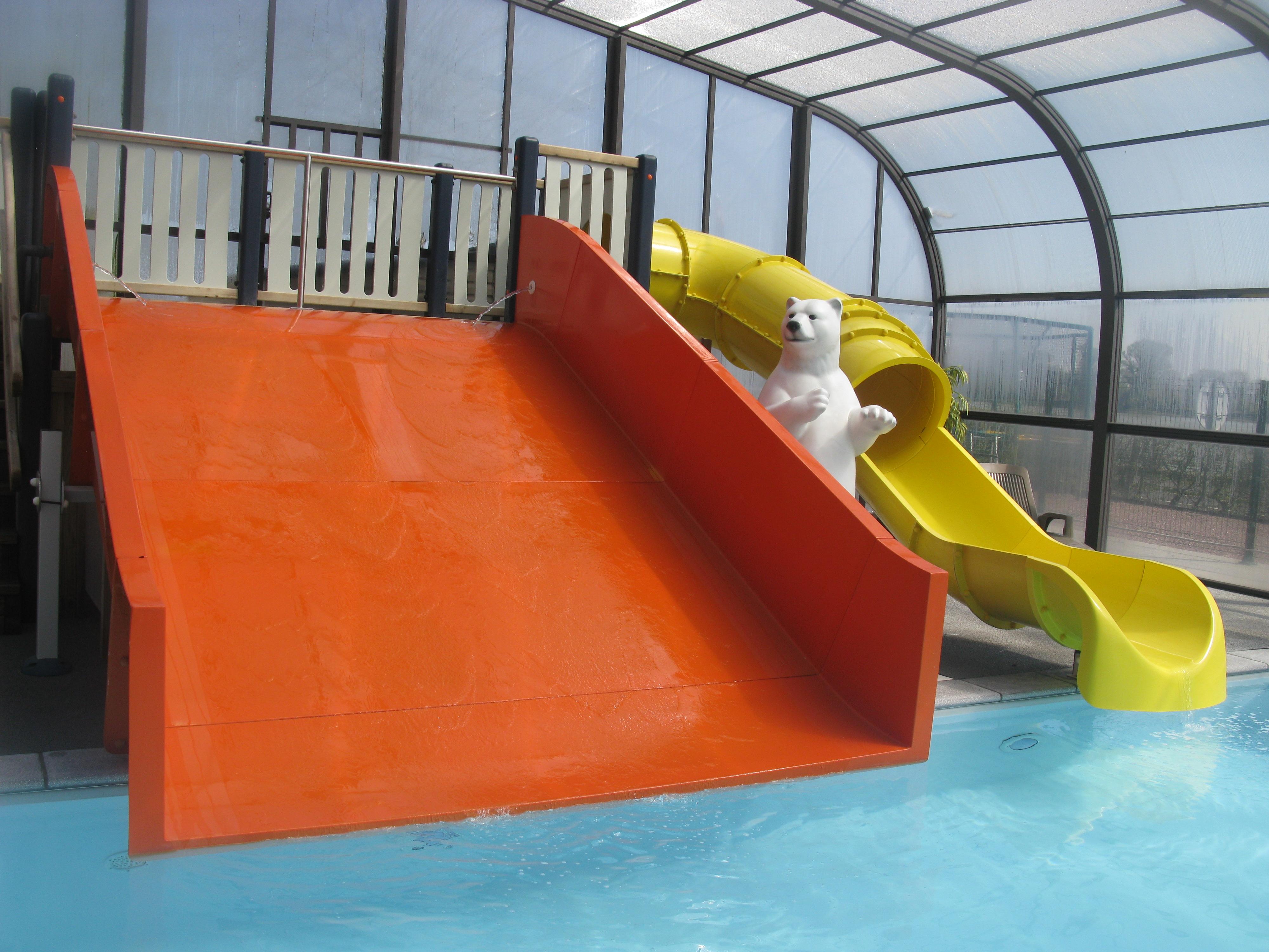 camping piscine toboggan normandie