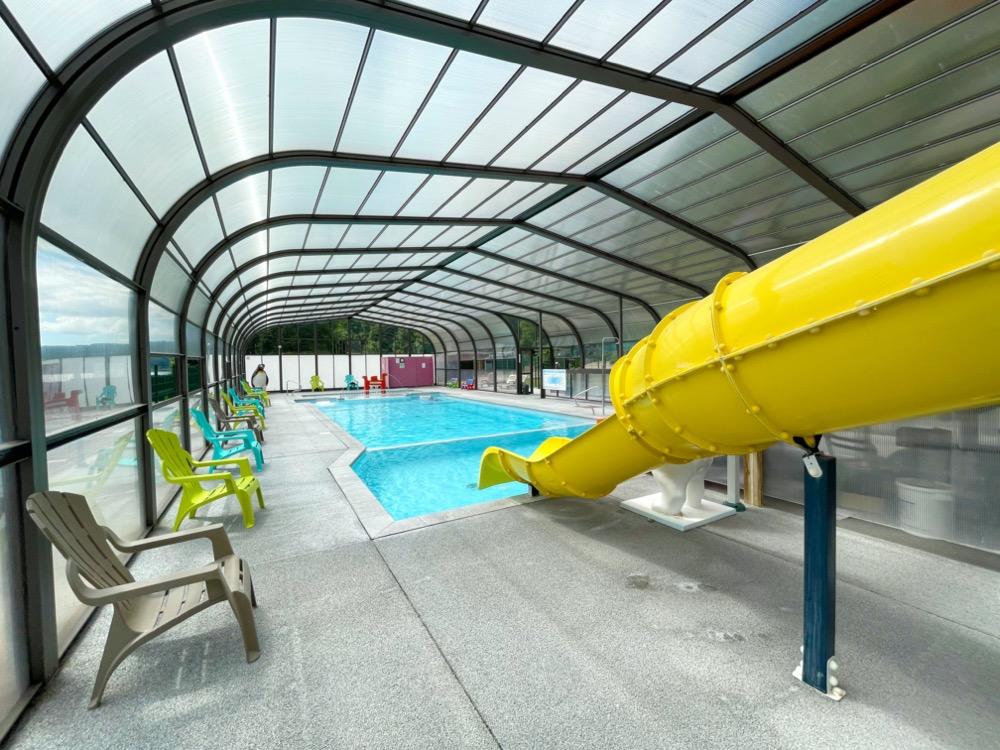 camping avec piscine chauffée couverte Normandie